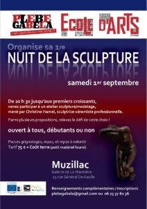 Flyer Nuit De La Sculpture 01.09.2018